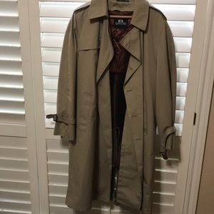 Fur lined trench coat